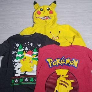 Pikachu boys shirts and hoodie